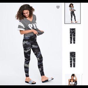 NWOT Victoria Secret PINK Black/Grey Camo Leggings